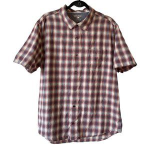 Horny Toad Open Air Shirt Plaid Red Wagon XL